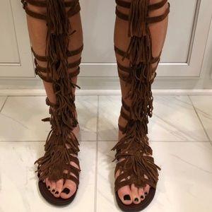 Steve Madden Fringe Gladiator Sandals